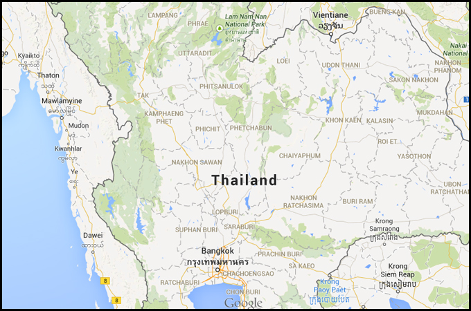 briquetting plant thailand map