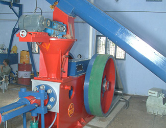 briquetting rotary air lock machine